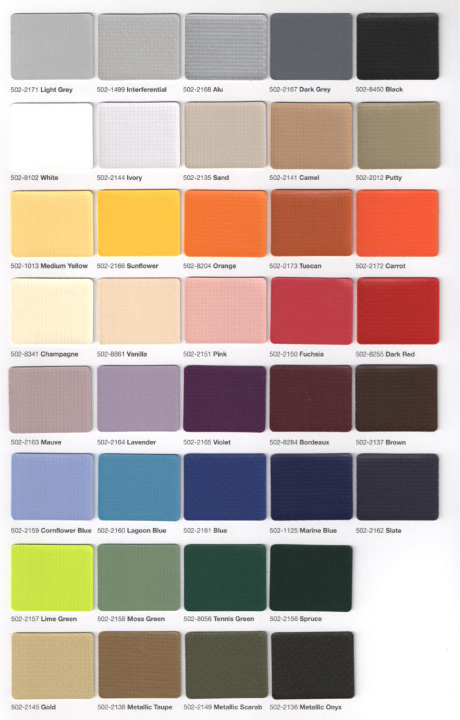Colors & Specifications – Accent Awnings, Inc.